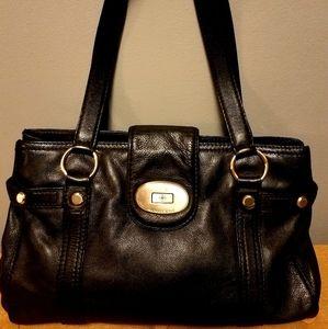 Michael Kors Black Leather Turn Key Hobo Bag
